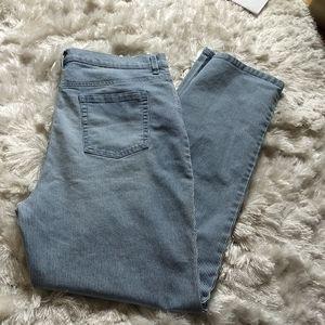 Gloria Vanderbilt pin strip jeans